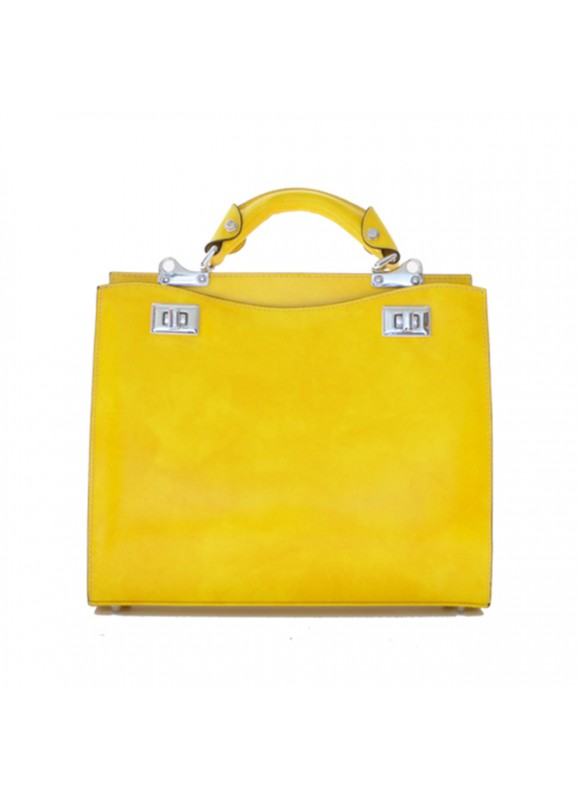 'Pratesi Anna Maria Luisa de'' Medici Medium Lady Bag in cow leather - Radica Yellow'