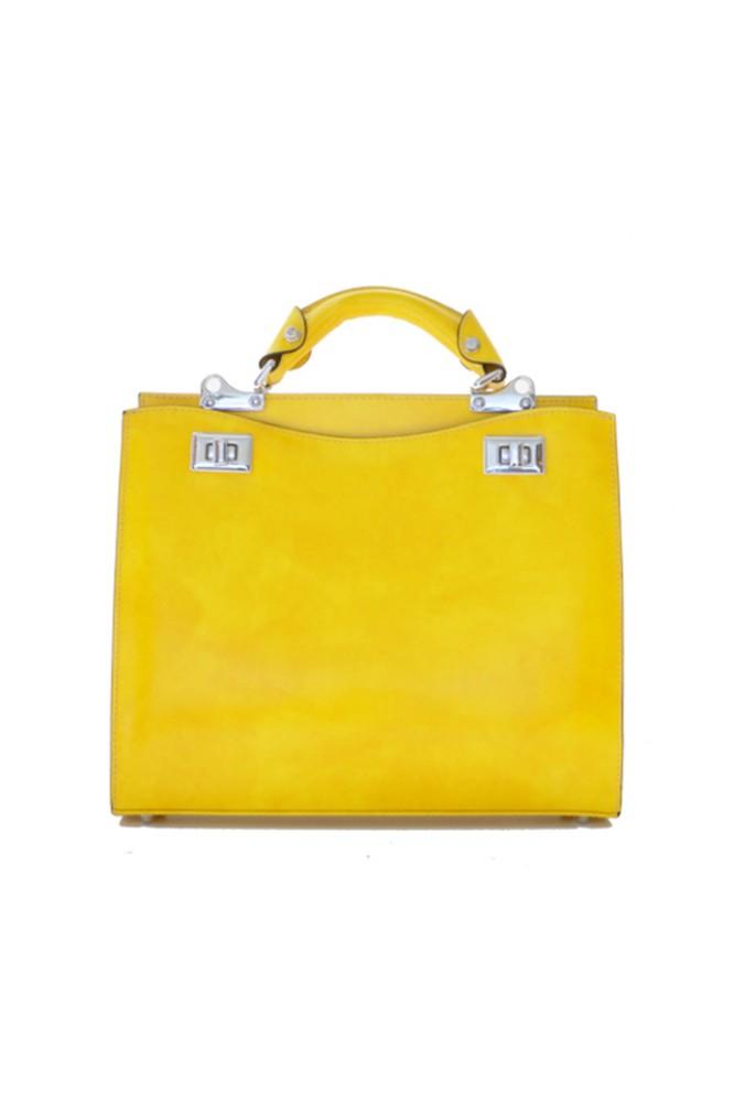 9322e49fc2a2 'Pratesi Anna Maria Luisa de'' Medici Medium Lady Bag in cow leather -  Radica Yellow'