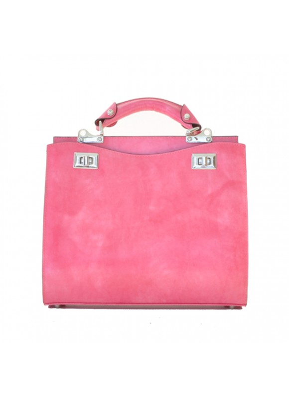 'Pratesi Anna Maria Luisa de'' Medici Medium Lady Bag in cow leather - Radica Pink'
