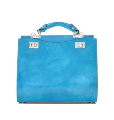 'Pratesi Anna Maria Luisa de'' Medici Medium Lady Bag in cow leather - Radica Sky-Blue'