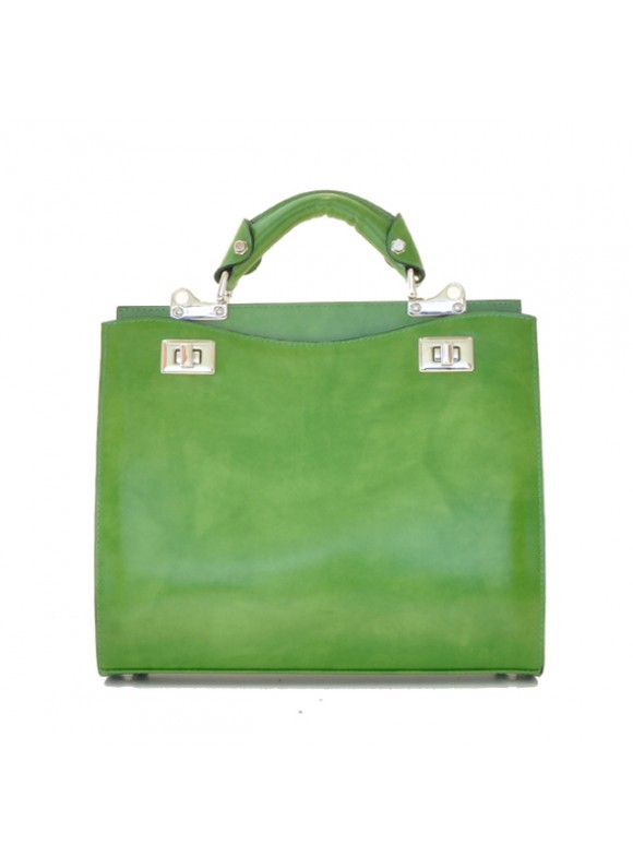 'Pratesi Anna Maria Luisa de'' Medici Medium Lady Bag in cow leather - Radica Green'