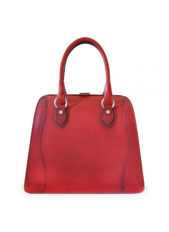 Pratesi Handbag Saturnia Big in cow leather - Bruce Cherry
