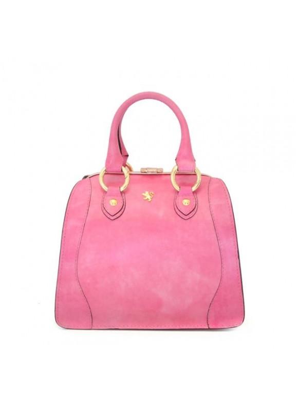 Pratesi Saturnia Small Woman Bag in cow leather - Radica Pink