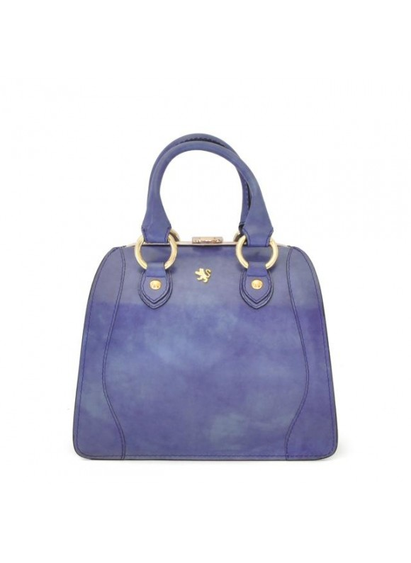 Pratesi Saturnia Small Woman Bag in cow leather - Radica Violet