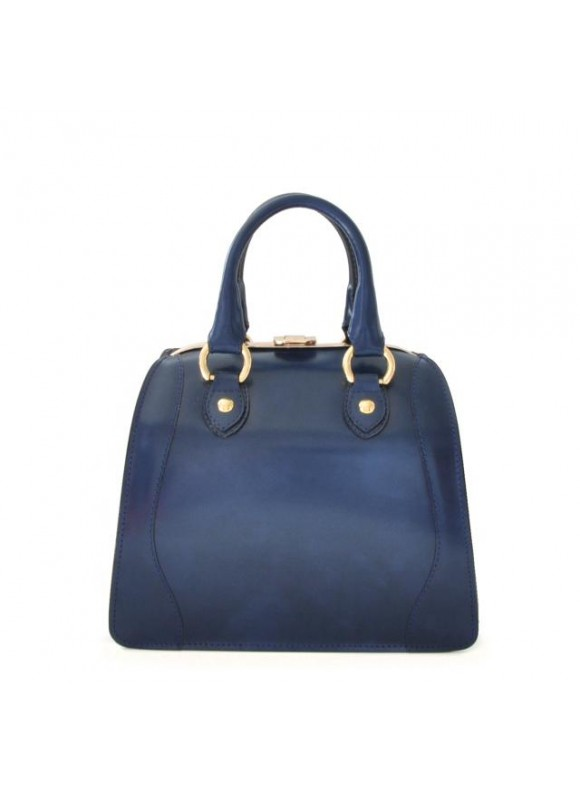 Pratesi Saturnia Small Woman Bag in cow leather - Radica Blue