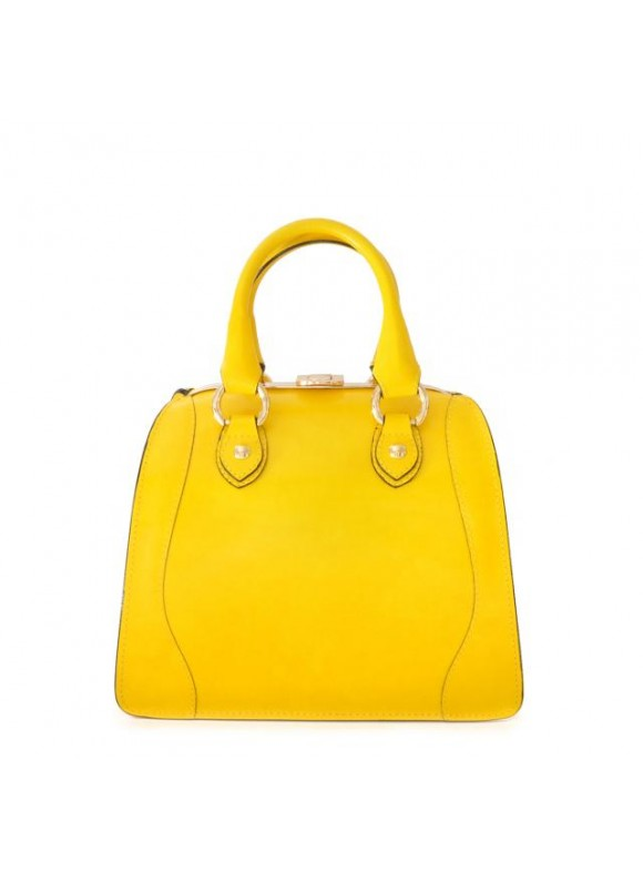 Pratesi Saturnia Small Woman Bag in cow leather - Radica Yellow