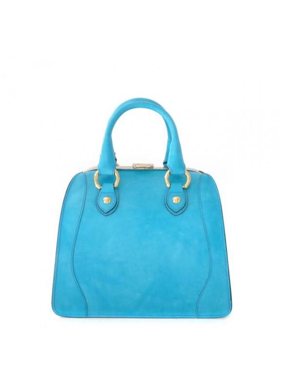 Pratesi Saturnia Small Woman Bag in cow leather - Radica Sky-Blue