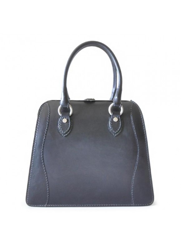 Pratesi Handbag Saturnia in cow leather - Bruce Black
