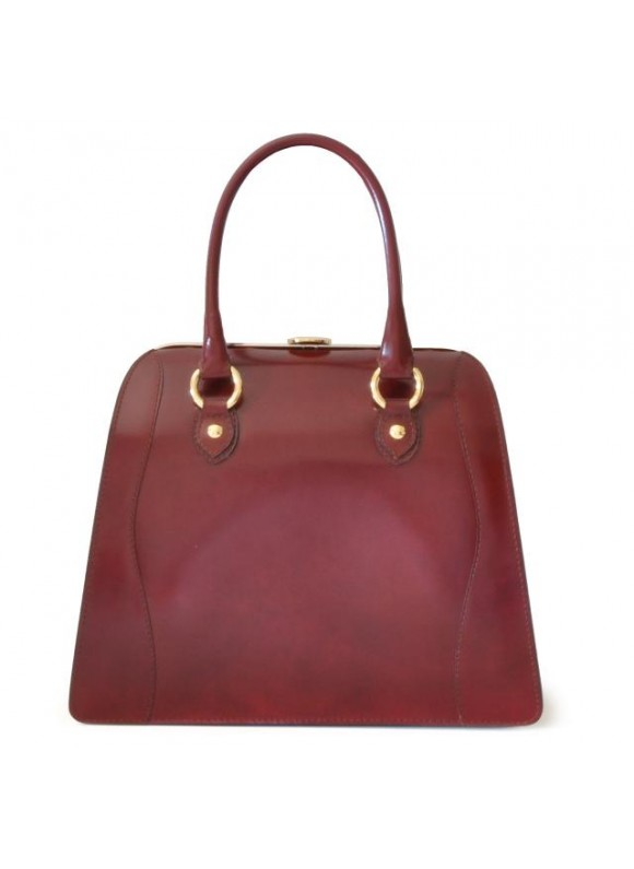 Pratesi Saturnia Big R Shoulder Bag in cow leather - Radica Chianti