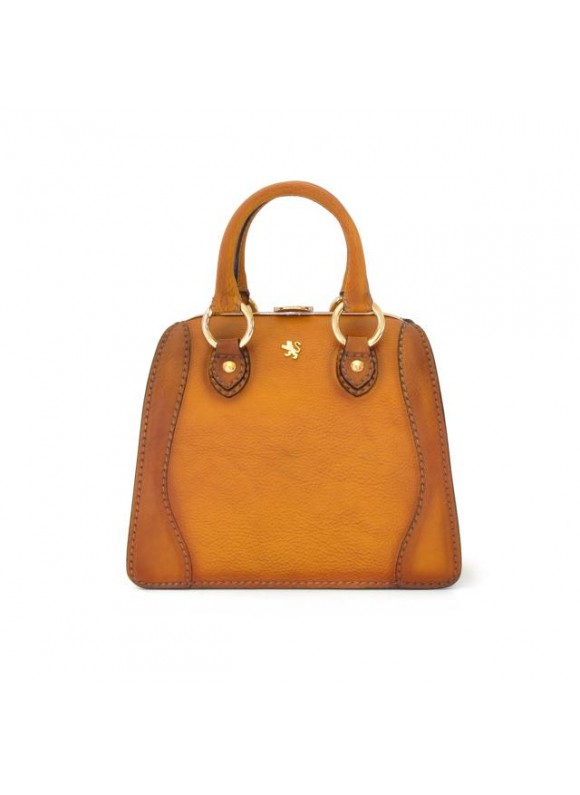 Pratesi Handbag Saturnia Small in cow leather - Bruce Cognac