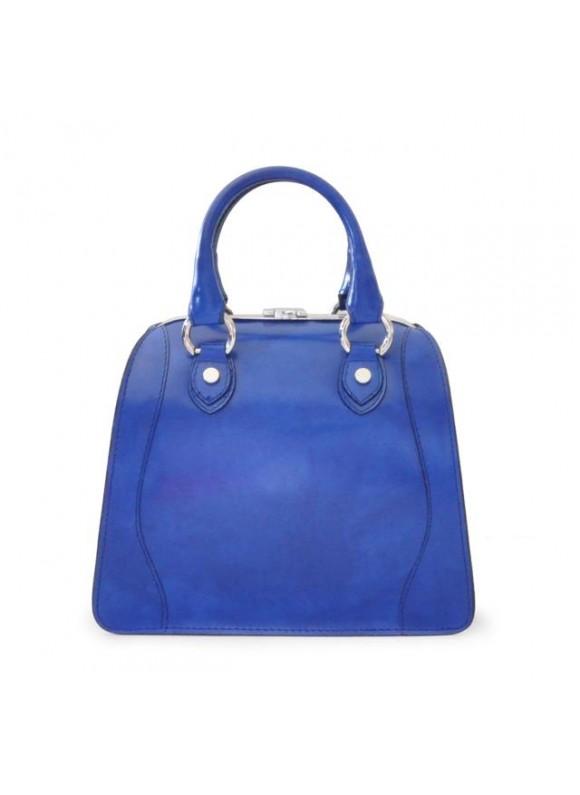 Pratesi Saturnia Small Woman Bag in cow leather - Radica Electric Blue
