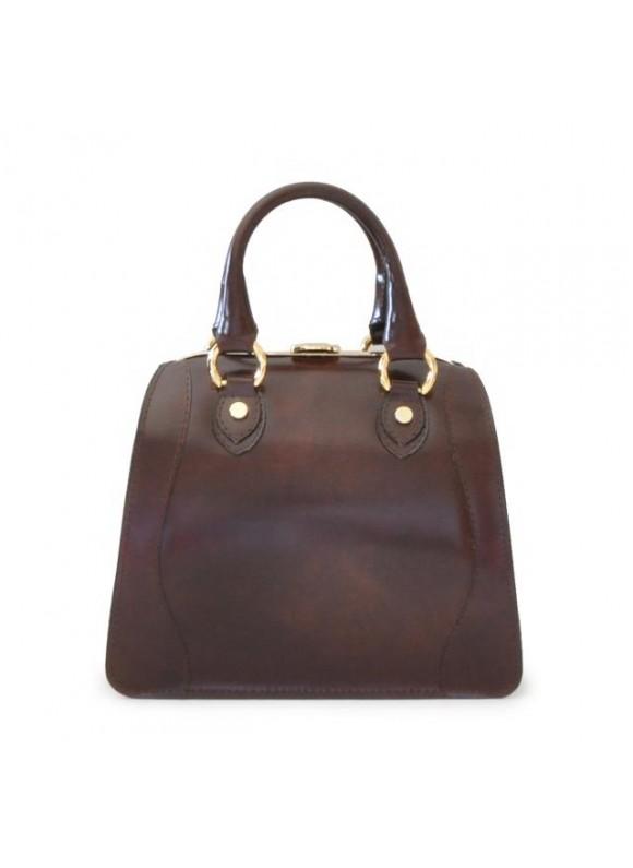 Pratesi Saturnia Small Woman Bag in cow leather - Radica Coffee