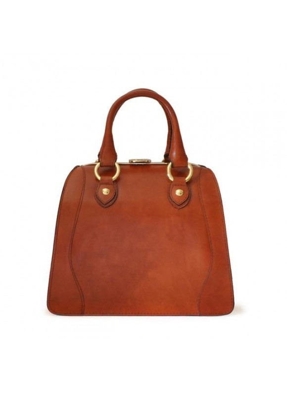 Pratesi Saturnia Small Woman Bag in cow leather - Radica Brown
