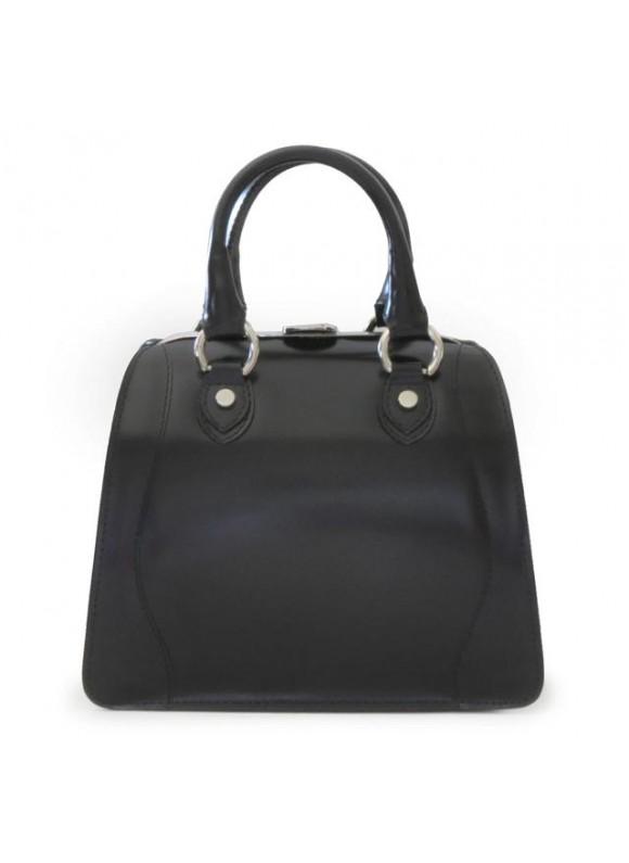 Pratesi Saturnia Big R Shoulder Bag in cow leather - Radica Black