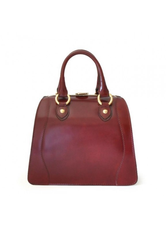 Pratesi Saturnia Small Woman Bag in cow leather - Radica Chianti
