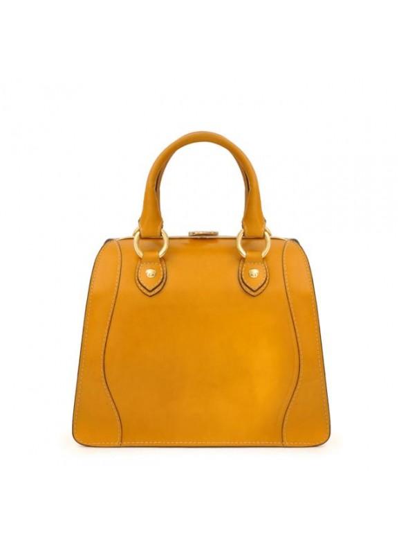 Pratesi Saturnia Small Woman Bag in cow leather - Radica Mustard