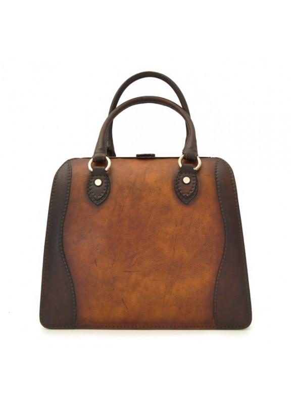 Pratesi Handbag Saturnia Big in cow leather - Bruce Brown