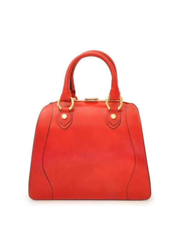 Pratesi Saturnia Small Woman Bag in cow leather - Radica Cherry