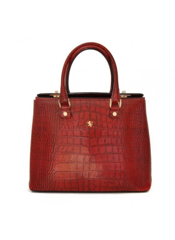 Pratesi Bronzino King Lady Bag in cow leather - Radica Cherry