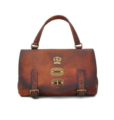 'Pratesi Woman Bag Castell''Azzara Small in cow leather - Bruce Brown'