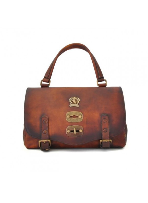 'Pratesi Woman Bag Castell''Azzara Small in cow leather' Coffe