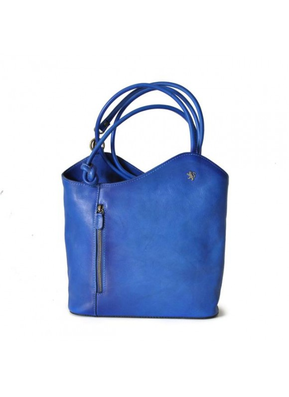 Pratesi Consuma Shoulder Bag in cow leather - Bruce Electric Blue