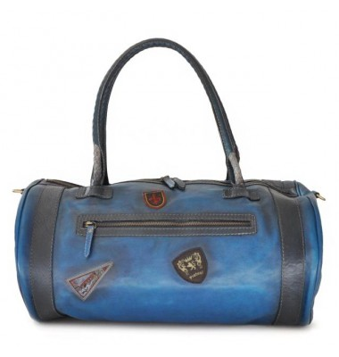 Pratesi Travel Bag Nordkapp in cow leather - Bruce Blue