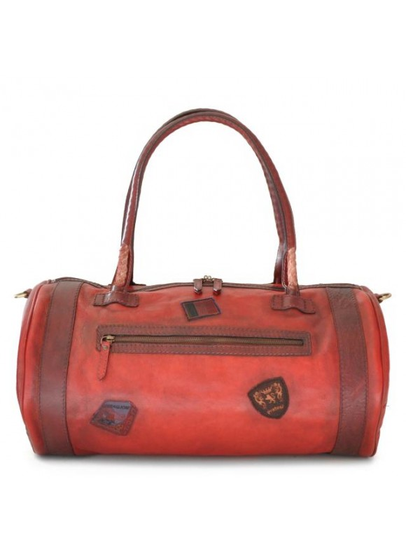 Pratesi Travel Bag Nordkapp in cow leather - Bruce Cherry