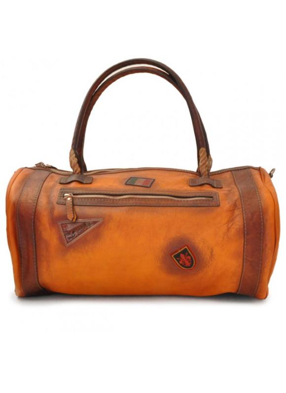 Pratesi Travel Bag Nordkapp in cow leather - Bruce Cognac