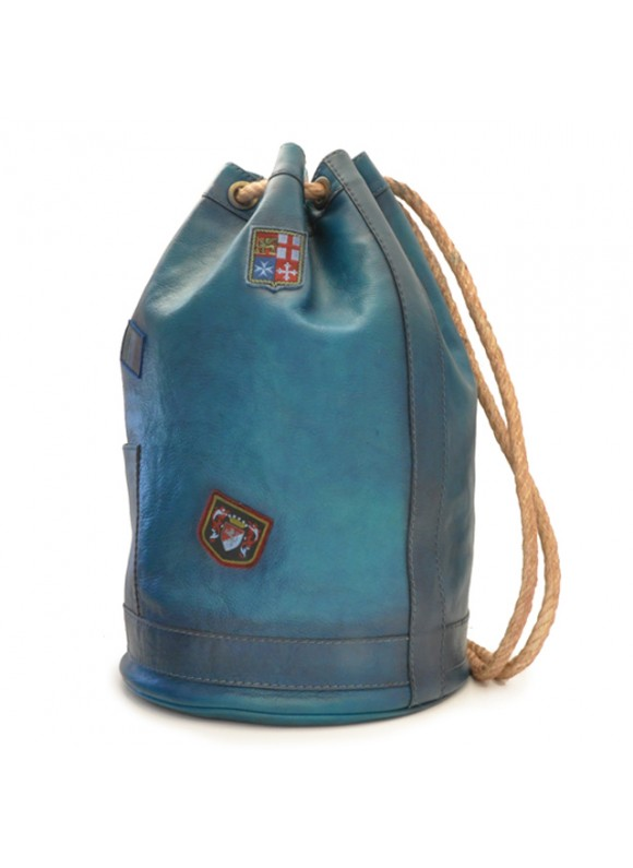 Pratesi Travel Bag Patagonia in cow leather - Bruce Blue