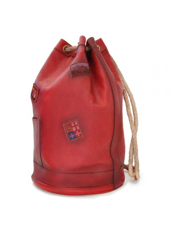 Pratesi Travel Bag Patagonia in cow leather - Bruce Cherry