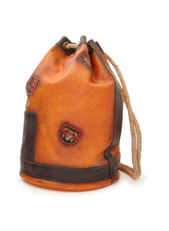 Pratesi Travel Bag Patagonia in cow leather - Bruce Cognac
