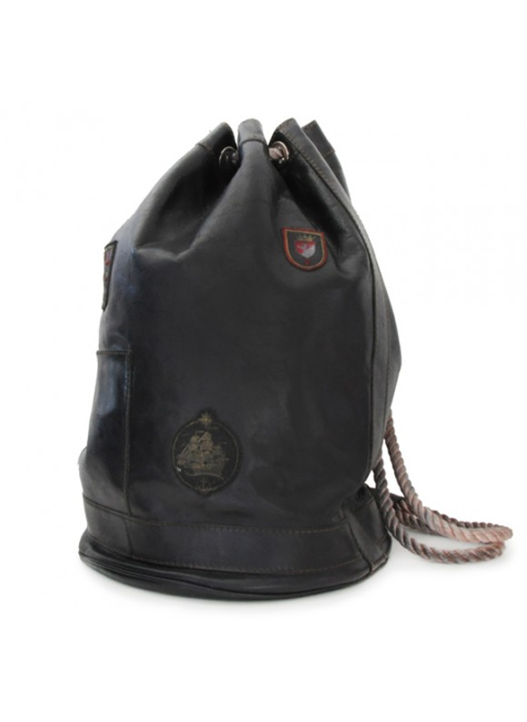 Pratesi Travel Bag Patagonia in cow leather - Bruce Black