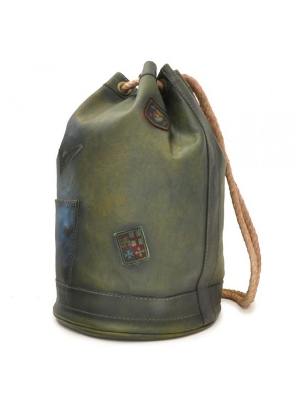 Pratesi Travel Bag Patagonia in cow leather - Bruce Dark Green