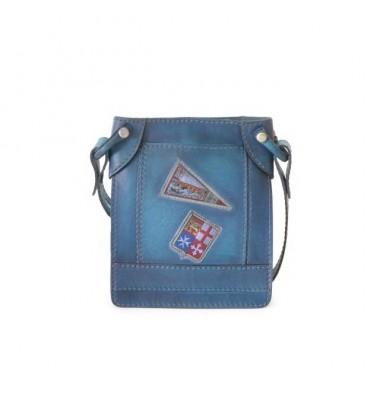 Pratesi Bakem Small Bag in cow leather - Bruce Blue