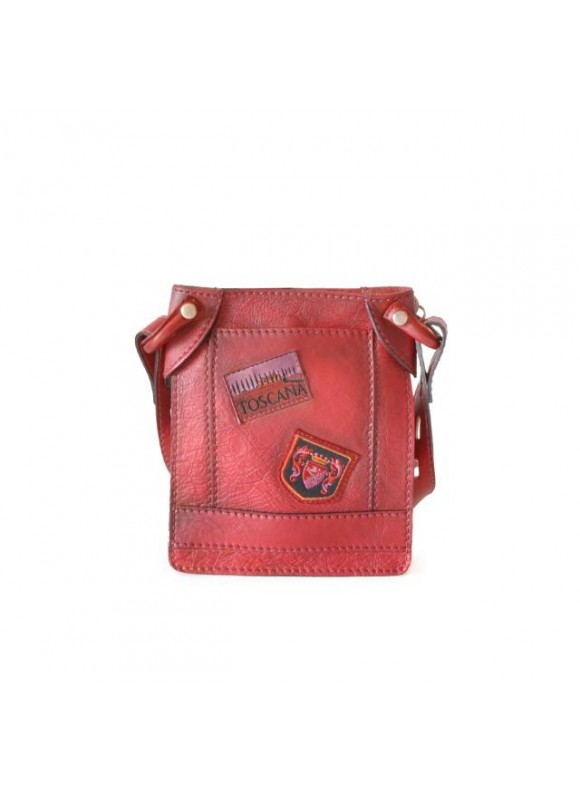 Pratesi Bakem Small Bag in cow leather - Bruce Cherry