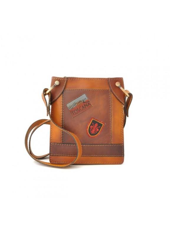 Pratesi Bakem Small Bag in cow leather - Bruce Cognac