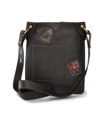 Pratesi Bakem Medium Bag in cow leather - Bruce Black