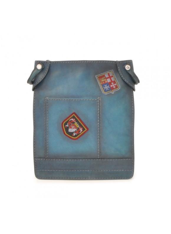 Pratesi Bakem Medium Bag in cow leather - Bruce Blue