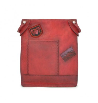 Pratesi Bakem Medium Bag in cow leather - Bruce Cherry