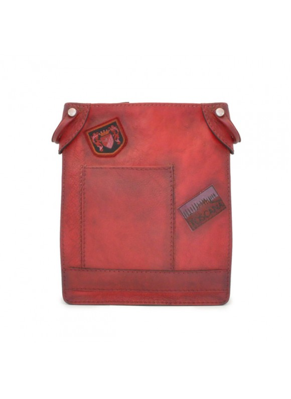 Pratesi Bakem Medium Bag in cow leather - Bruce Cherry