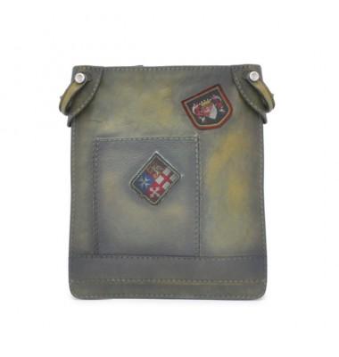 Pratesi Bakem Medium Bag in cow leather - Bruce Dark Green