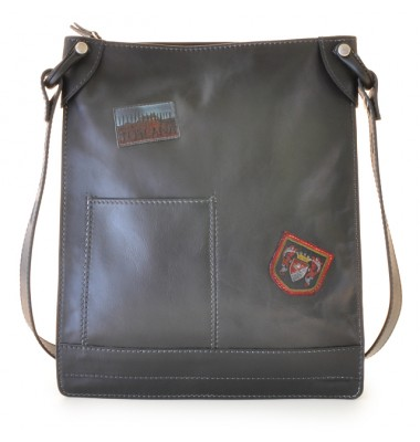Pratesi Cross-Body Bag Bakem in cow leather - Bruce Black