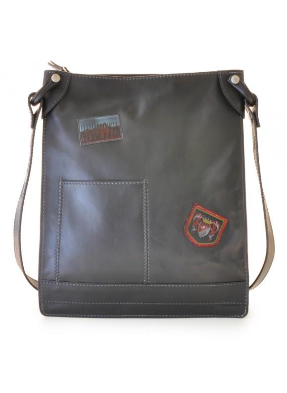 Pratesi Cross-Body Bag Bakem in cow leather - Bruce Black