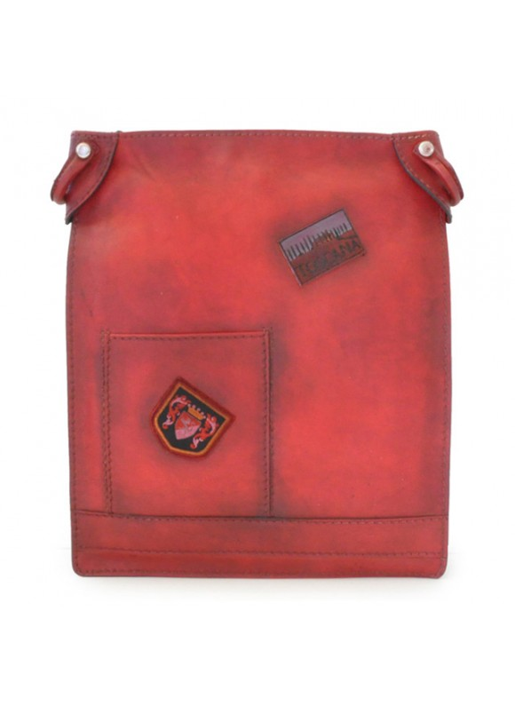 Pratesi Cross-Body Bag Bakem in cow leather - Bruce Cherry