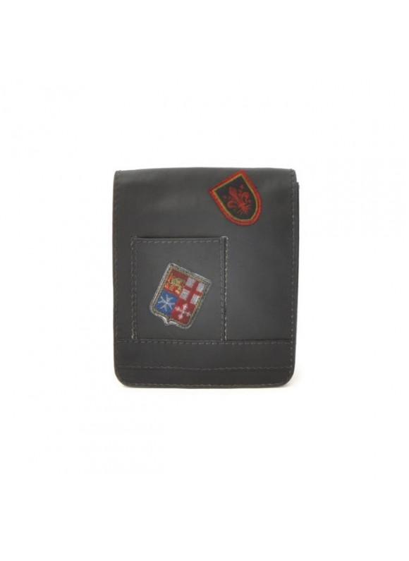 Pratesi Messanger Mini Bag in cow leather - Bruce Black