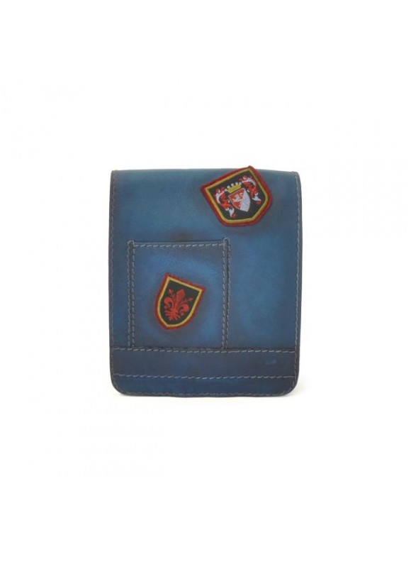 Pratesi Messanger Mini Bag in cow leather - Bruce Blue
