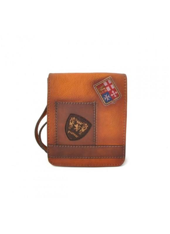 Pratesi Messanger Mini Bag in cow leather - Bruce Cognac