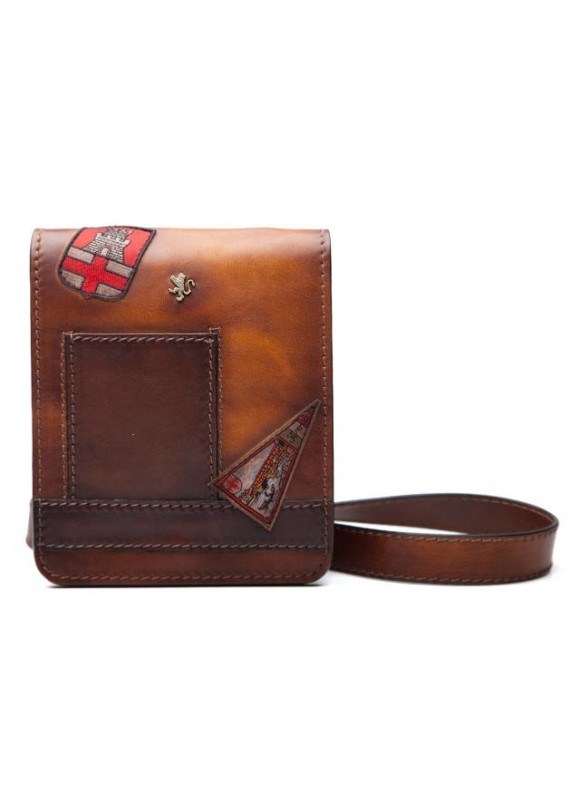 Pratesi Messanger Mini Bag in cow leather - Bruce Brown