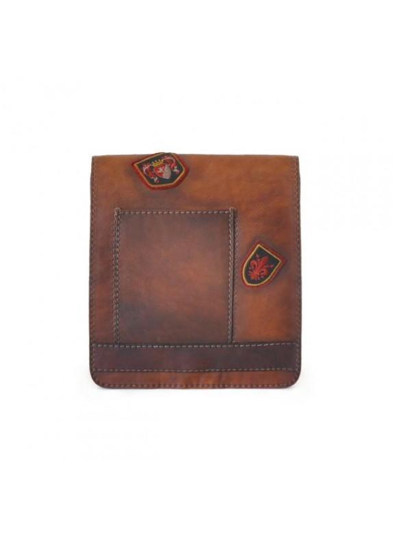 Pratesi Messanger Medium Cross-Body Bag in cow leather - Bruce Brown